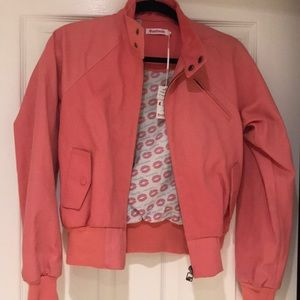 NWT coral bomber jacket size SMALL